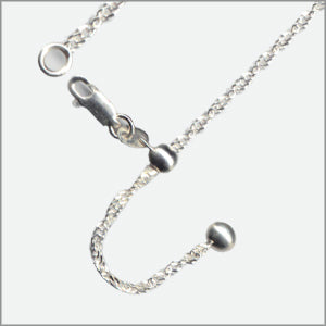 Adjustable Singapore Magic Ball Chain Sterling Silver