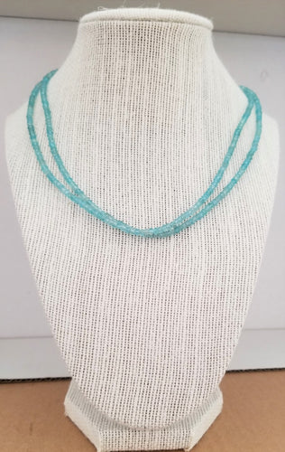 Natural Gemstone Beaded Necklace - Double Strand