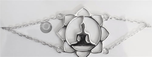 Sterling Silver Chakra Choker Necklace