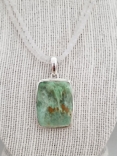 Handcrafted Sterling Silver Pendant with Veriscite Gemstone