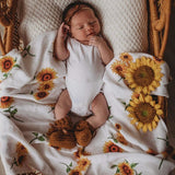 Sunflower Organic Muslin Wrap - Snuggle Hunny Kids