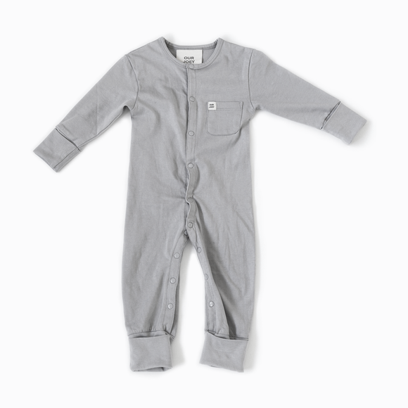 Light Grey Full Length Onesie - Our Joey