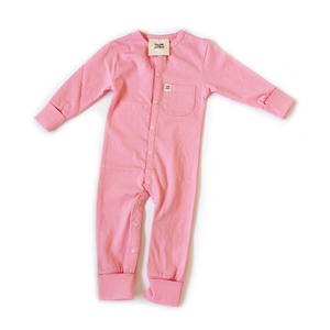 Dusty Pink Full Length Onesie - Our Joey