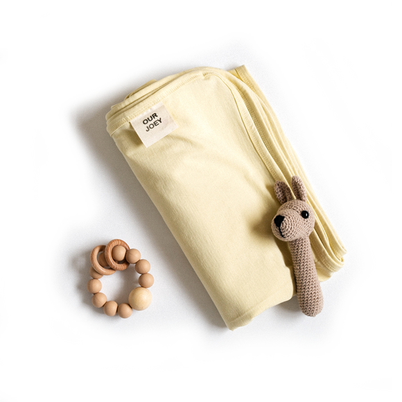Pear Cotton Swaddle - Our Joey