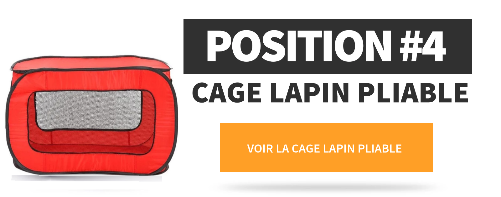 cage lapin pliable