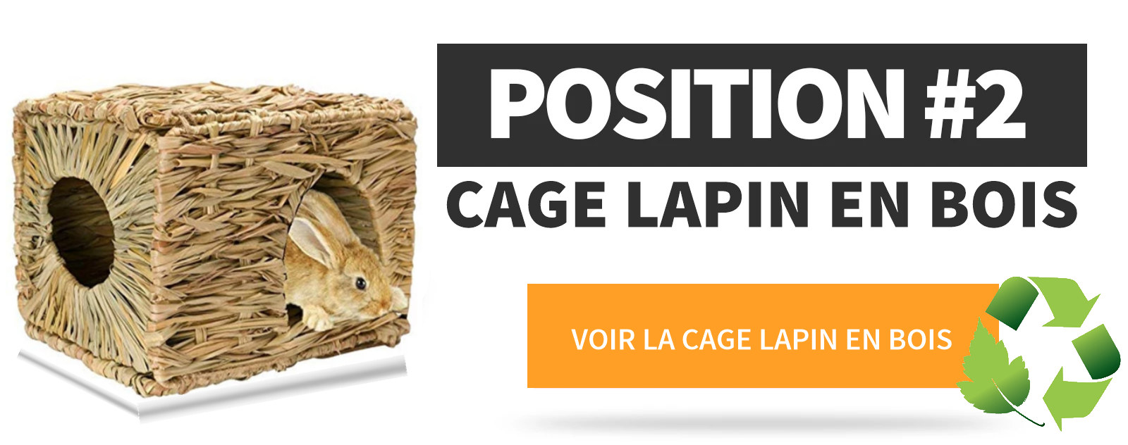 Cage Lapin Bois