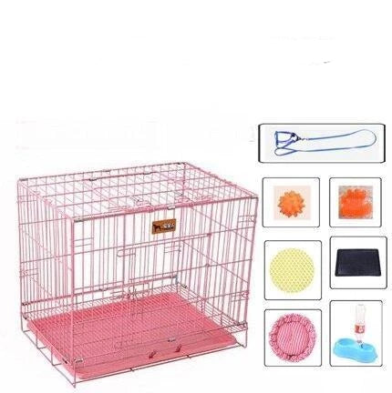 cage lapin rose
