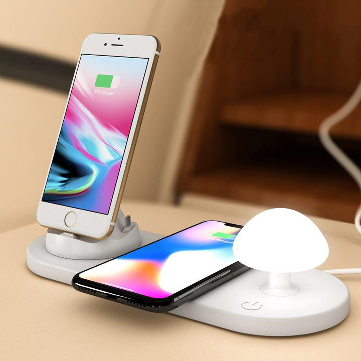 USB 3 in 1 Wireless Charging Pad & Night Light