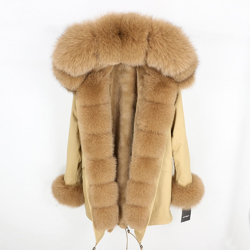 BROWN FUR BROWN PARKA