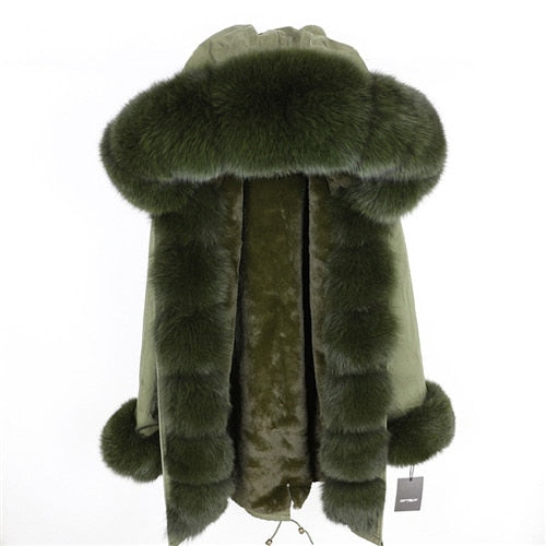 GREEN FUR GREEN PARKA