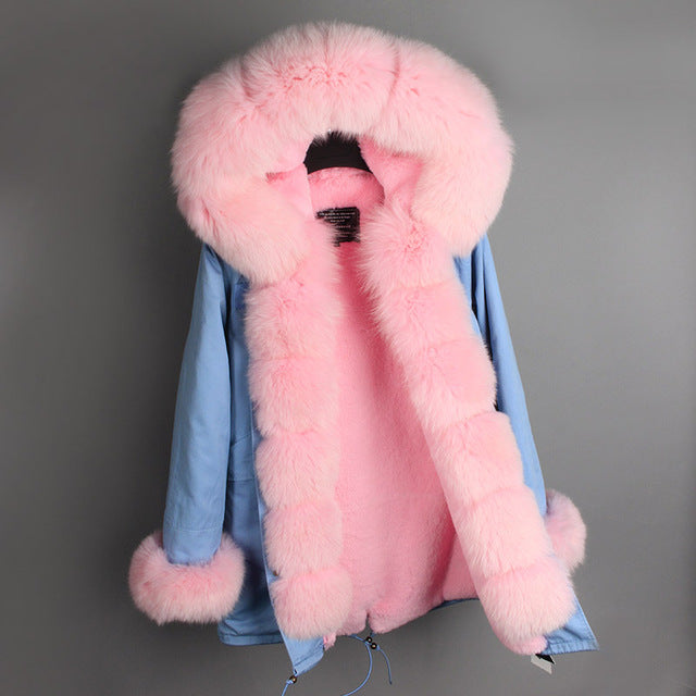 PINK FUR BLUE  PARKA