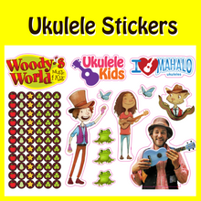 Load image into Gallery viewer, Woody's Ukulele Sticker Sheets