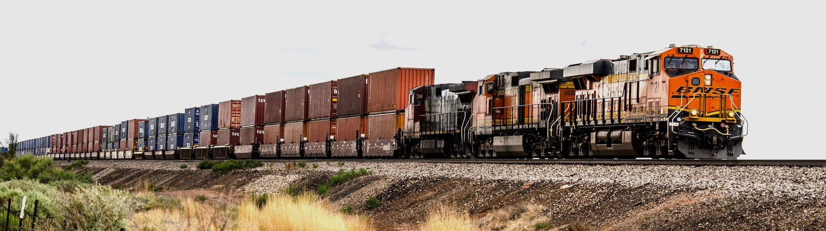 Container train powered by BNSF