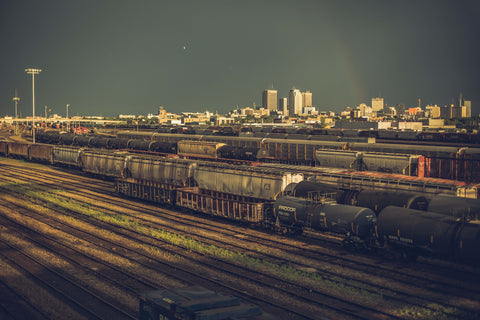 Train Yards and Tracks Photo by Matthew Henry