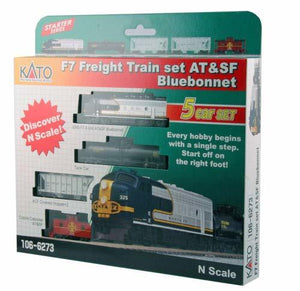N F7 Freight Train Set - at&SF Bluebonnet w/Ready to Run DCC