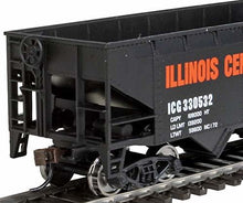 Load image into Gallery viewer, Walthers Trainline Offset Hopper - Ready to Run -- Illinois Central (Orange, Black, White- Large Logo) HO Scale