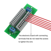 Load image into Gallery viewer, PCB008 1X 12 Position Prewired Power Distribution Board Block 2 Inputs 2 x 13 Outputs for DC AC Voltage New