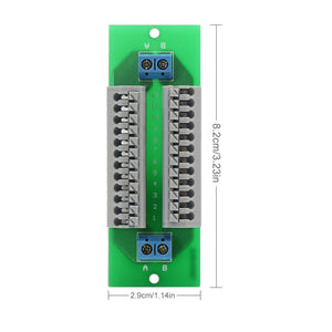 PCB008 1X 12 Position Prewired Power Distribution Board Block 2 Inputs 2 x 13 Outputs for DC AC Voltage New