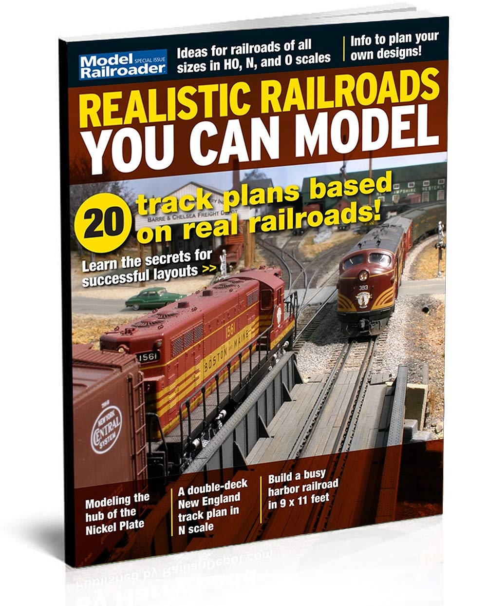 Realistic Railroads You Can Model, 20 Track Plans by Model Railroader Magazine