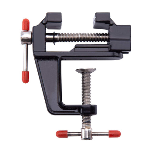 Aluminum Alloy Mini Table and Bench Vise Clamp, Portable Craft Repair Tool for Woodworking and Small Work Hobby
