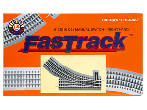 Lionel FasTrack 036 Manual Switch, Electric O Gauge, Right Hand