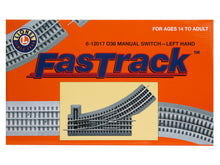 Load image into Gallery viewer, Lionel FasTrack 036 Manual Switch, Electric O Gauge, Left Hand
