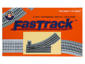 Lionel FasTrack 036 Manual Switch, Electric O Gauge, Left Hand