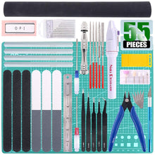 Load image into Gallery viewer, Keadic 55Pcs Professional Modeler Basic Tools Craft Set Hobby Building Tools Kit for Gundam Car Model Building Repairing and Fixing