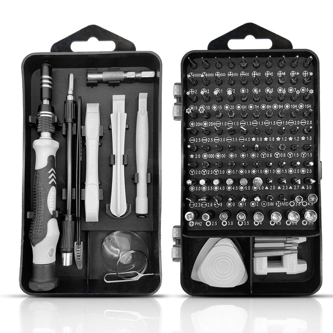 Royace Screwdriver Kit,119 in 1 Screwdriver Set,Electronics Tool kit Screwdriver Sets Computer Tool Kit Computer Tools Small Screwdriver Set Phone Repair Tool Kit PS4 Screwdriver Kit for Laptop,Phone
