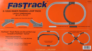 Lionel FasTrack Electric O Gauge, Inner Passing Loop Add-On Track Pack