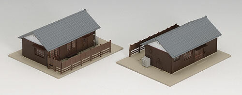 Kato N Scale Section Houses Built Up
