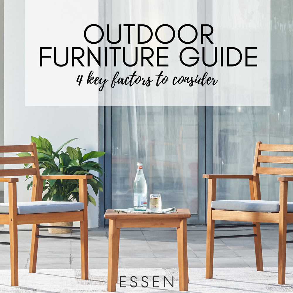 4 Key Factors First Time Outdoor Furniture Buyers Should Consider
