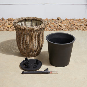 Brindisi Self-watering Wicker Planter
