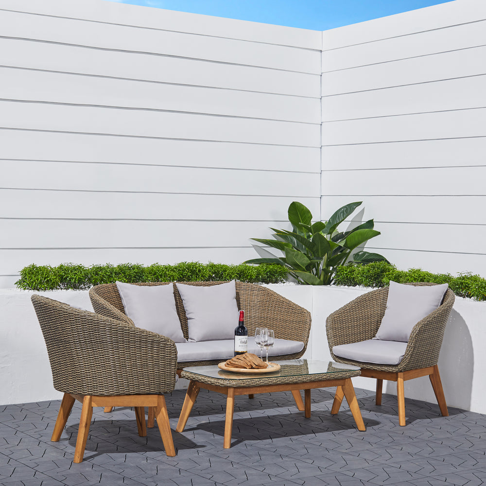 Polla Outdoor Patio Conversation Set
