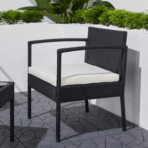 Minori Outdoor Wicker Coffee Lounger Set