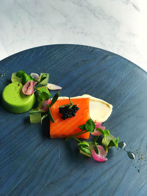 One Fine Dine Scottish Balik Smoked Salmon compressed Apple