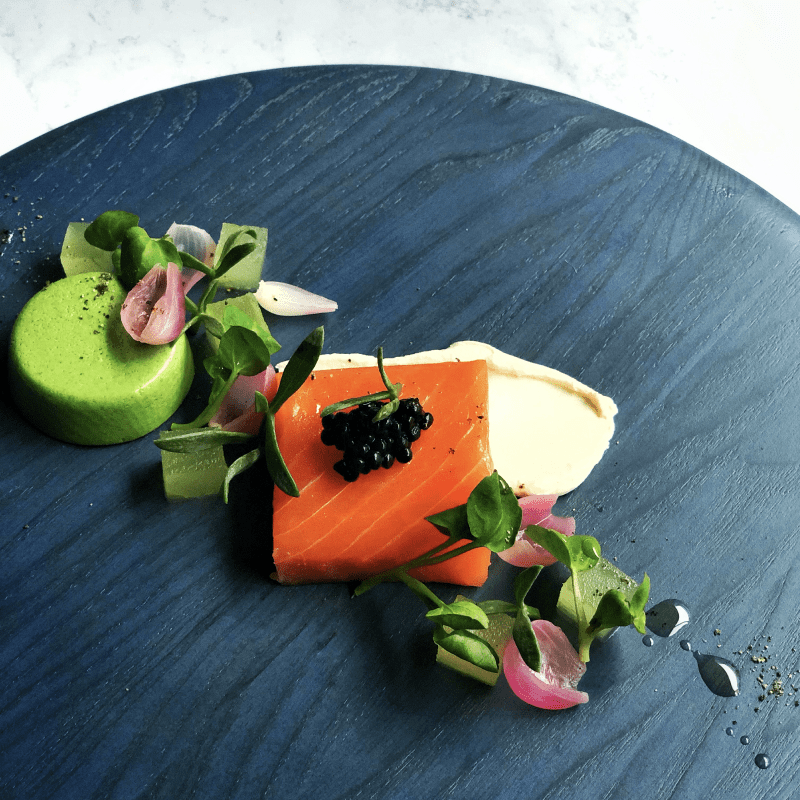 Scottish Balik Smoked Salmon compressed Apple