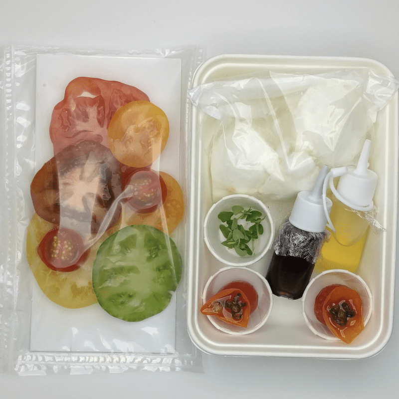 Heritage Tomato and Laverstoke Park Mozzarella Salad kit