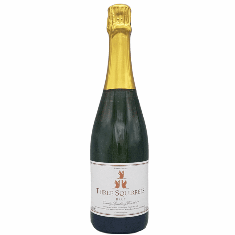THREE SQUIRRELS, BRUT, ENGLISH, HERTFORDSHIRE, SPARKLING WINE 2014