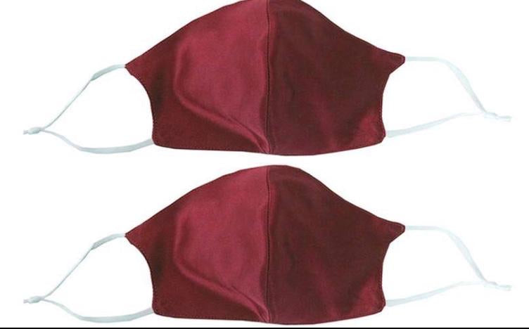 100% Mulberry Silk Face Mask - Set of 2