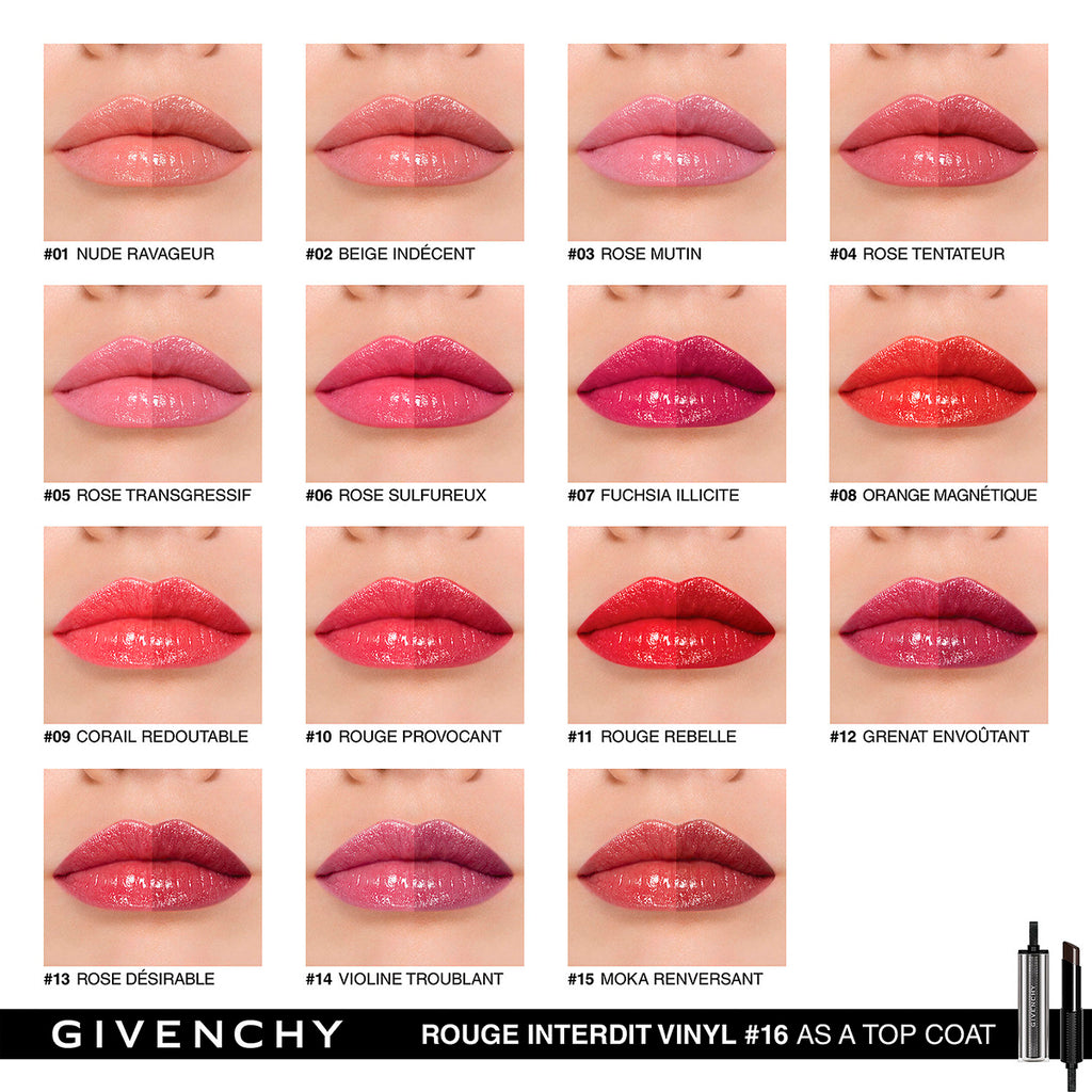 Givenchy Rouge Interdit Vinyl Color Enhancing Lipstick 11 3.3G