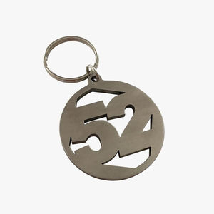 '52' Stainless Steel Key Chain