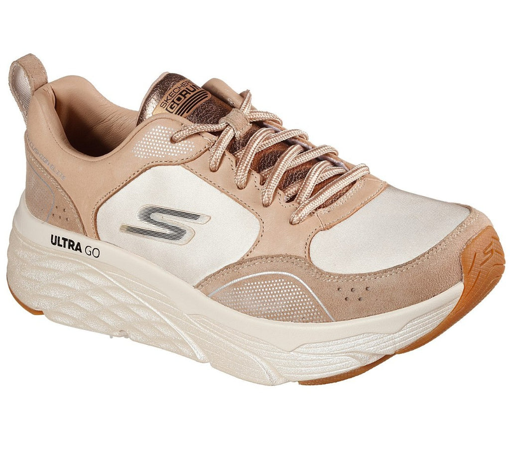 Skechers Women Elite Premium Max Cushioning Sport Shoes - 128264-TAN