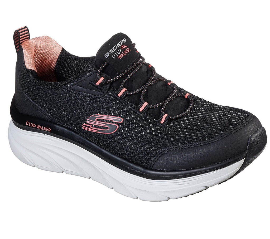 Skechers Women Sport D'Lux Walker Shoes - 149004-BKPK