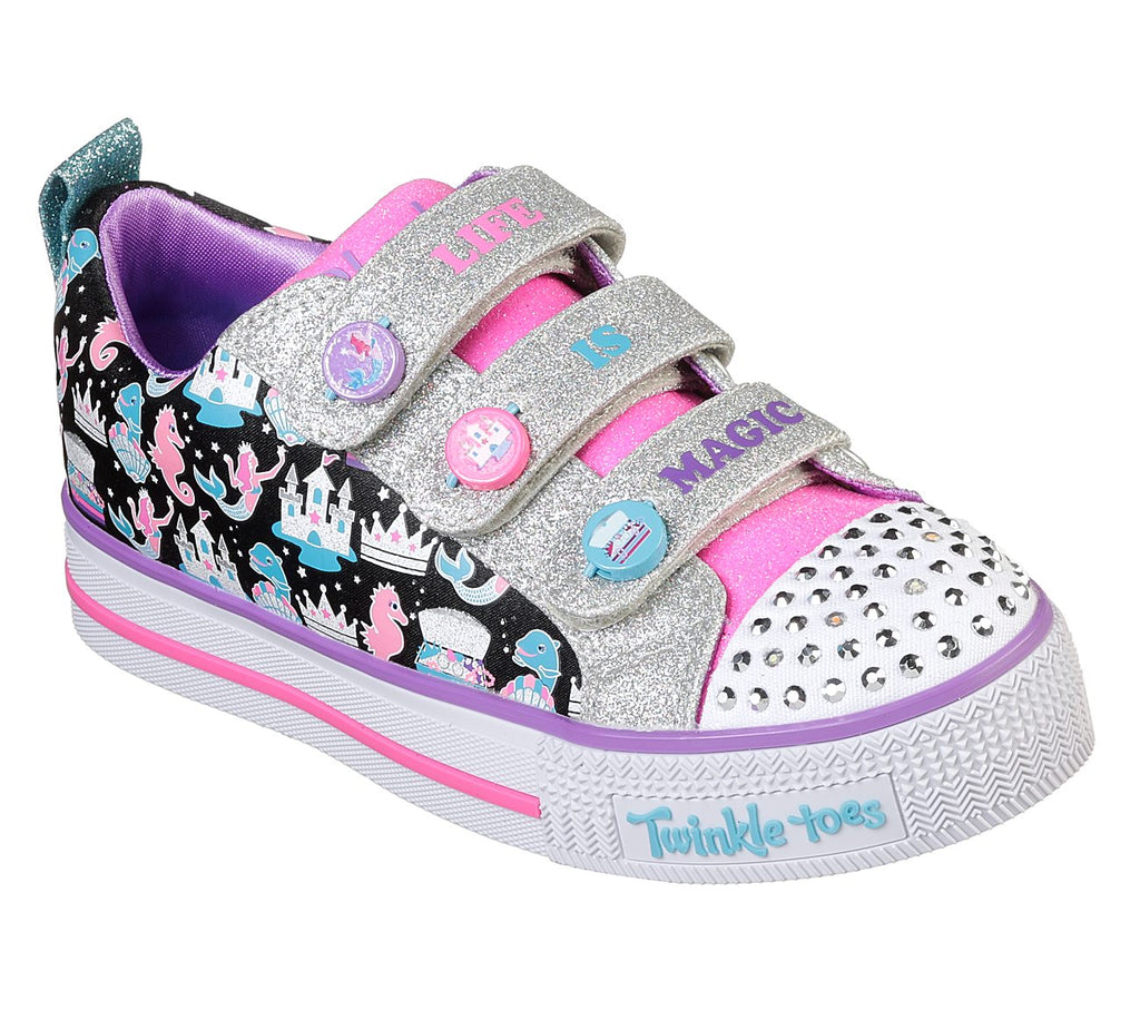 Skechers Girl Twinkle Toes Twinkle Lite Shoes - 20093L-BKMT
