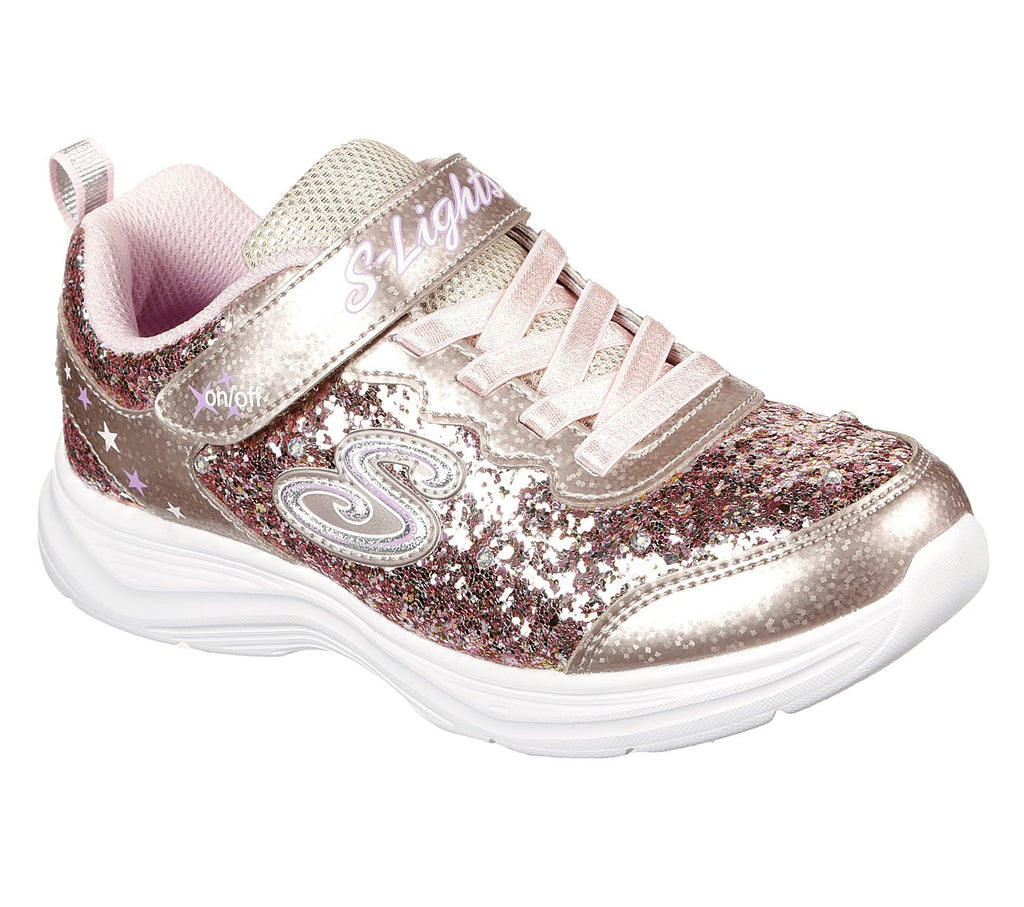 Skechers Girls Glimmer Kicks Shoes - 20267L-GDPK