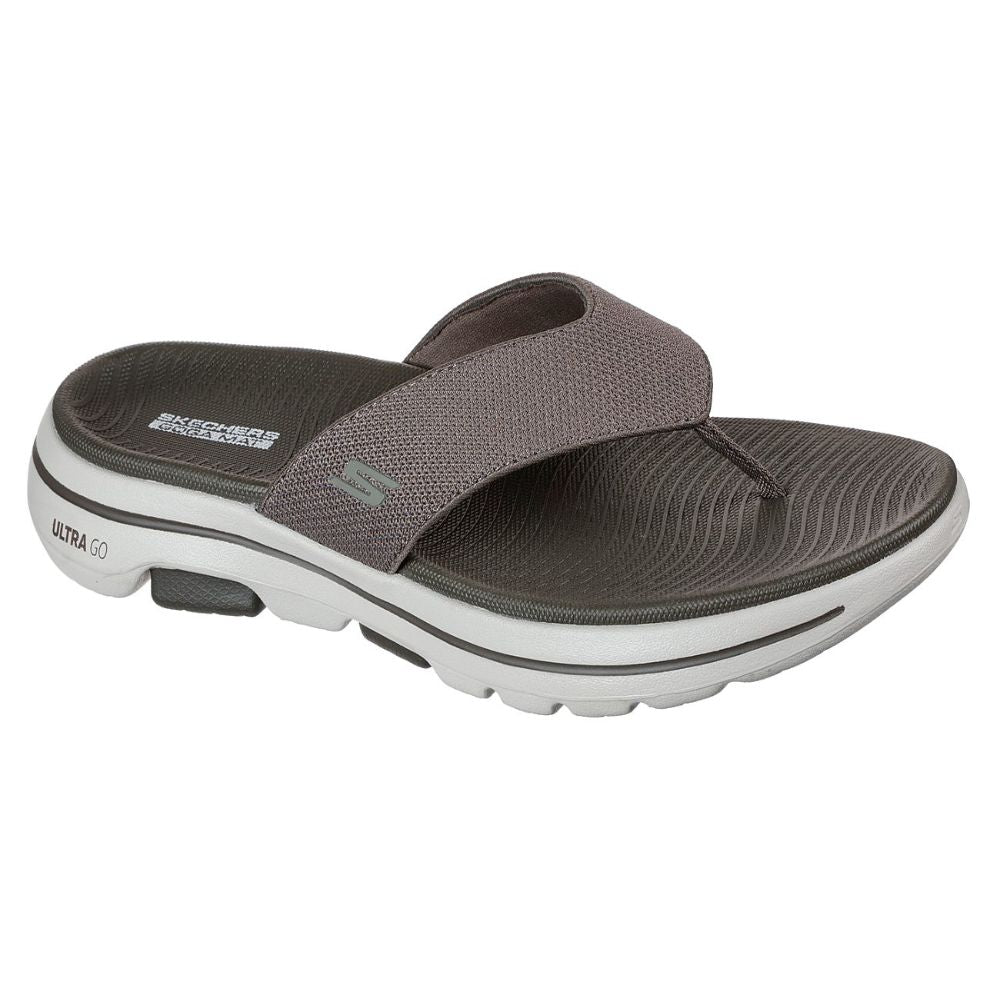 Skechers Men Go Walk 5 On The Go Sandals Shoes 229009 Khk Skechers Malaysia Online Store