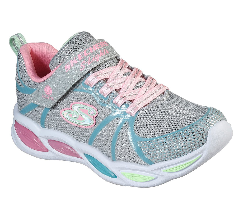 Skechers Girls Shimmer Beams Shoes - 302042L-GYMT
