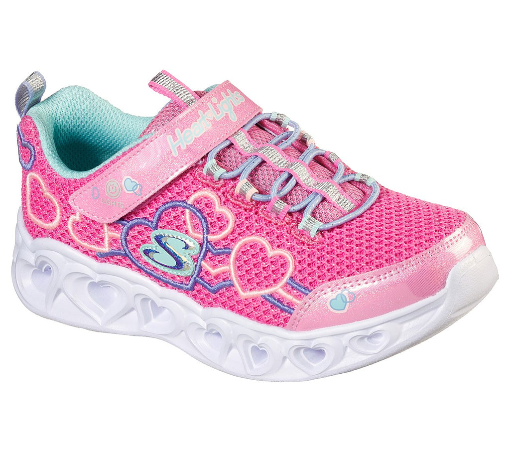 Skechers Girls Heart Lights Shoes - 302080L-PKMT