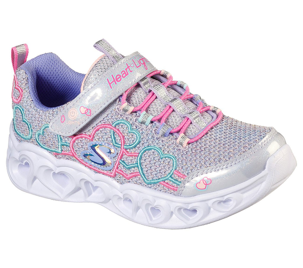 Skechers Girls Heart Lights Shoes - 302080L-PWMT